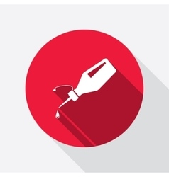 Glue bottle and drop icon superglue symbol vector