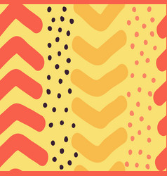 Hand drawn chevron and dots seamless vector