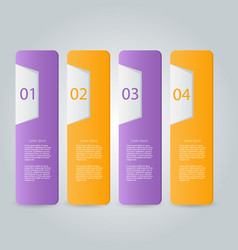 Infographic banner template for website design vector