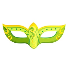 Party mask in green color vector image vector image