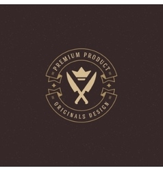 Restaurant logo template design element vector