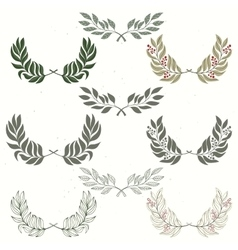 Set of wreath hand drawn vector image vector image