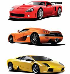 Sport cars vector