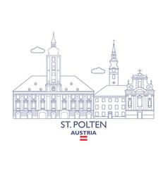 St polten city skyline vector