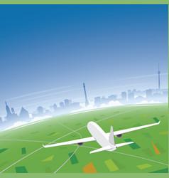 Stuttgart skyline flight destination vector