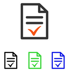 Valid document flat icon vector