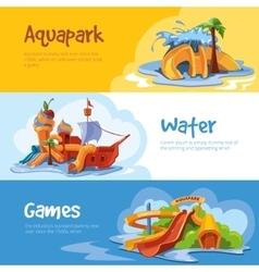 Waterslides in an aquapark vector