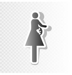 women and baby sign new year blackish vector image vector image
