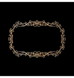 Golden vintage ornamental frame vector