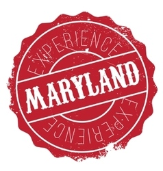 Maryland stamp rubber grunge vector