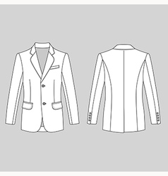 Long sleeve mans buttoned jacket vector