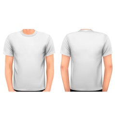 A male body with a white shirt on vector