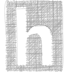 Freehand typography letter h vector