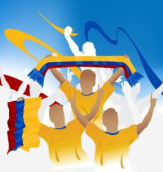 Colombia crowd vector