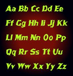 Alphabet mystic letters vector