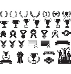 Award symbols vector