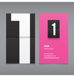 business card number 1 vector image