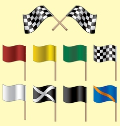 racing flags vector image