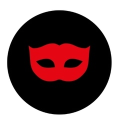 Privacy mask flat intensive red and black colors vector
