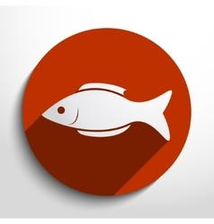 Fish web icon vector