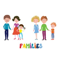 Funny families set - nice and simple design vector
