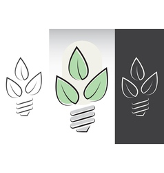 green energy light bulbs symbols vector image