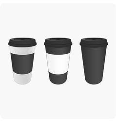 Brown cups for coffee vector