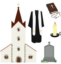 Religion symbols vector image