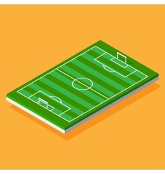 Football field stylized isometric vector