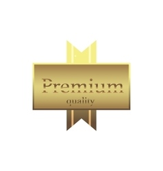 Premium gold label icon simple style vector