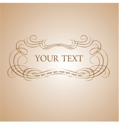 calligraphy text vector image
