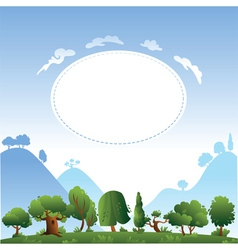 Card design with trees vector