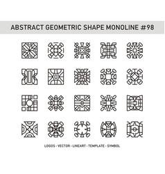Abstract geometric shape monoline 98 vector