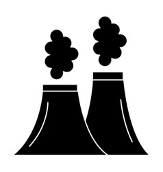 chimney factory isolated icon vector image