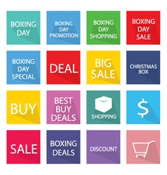 Collection of boxing day banner for special price vector