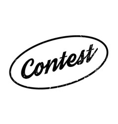 contest rubber stamp vector image