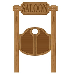 Doors in western saloon 01 vector