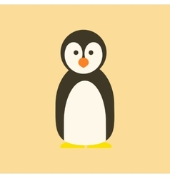 flat icon stylish background Emperor penguins vector image vector image