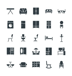 Furniture Cool Icons 2 vector image