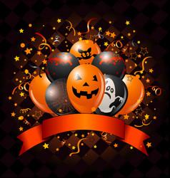 Halloween balloons design vector
