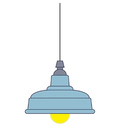 Industrial style pendant ceiling light vector image vector image