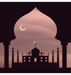 Islam backgroundmosquearchdusty rose sky vector
