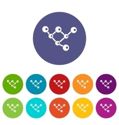 Molecule structure set icons vector image