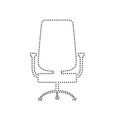 Office chair sign black dotted icon on vector