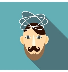 Science icon flat style vector