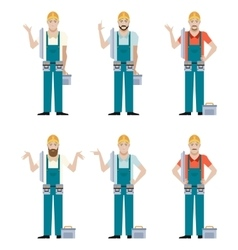 Set of Electricians vector image