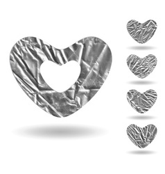 Set of hearts isolated on white vector image vector image