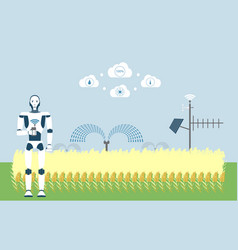 Smart farm with artificial intelligence control vector