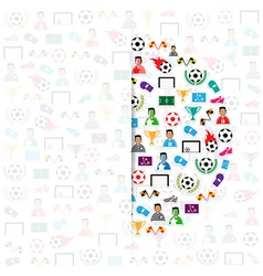 Soccer circle icons background eps10 vector image