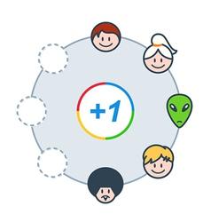 social circle vector image